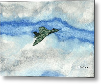 Metal Print featuring the painting The Vulcan Bomber by John Williams