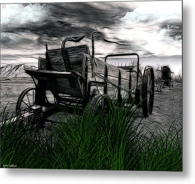Metal Print featuring the mixed media The Wagon by Tyler Robbins