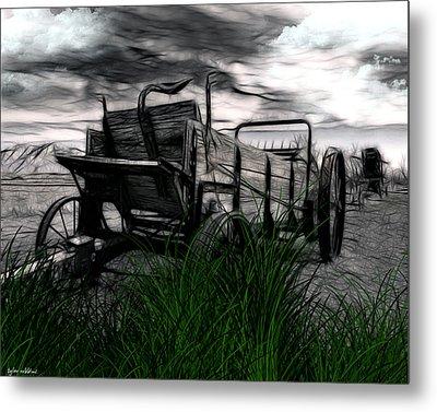 The Wagon Metal Print by Tyler Robbins