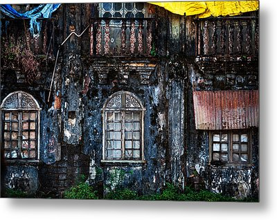 The Wall Of The Old Goan House 1. Margao. India Metal Print