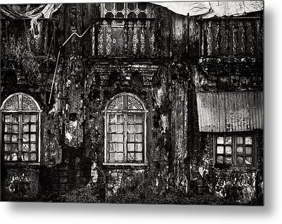 The Wall Of The Old Goan House. Margao. India Metal Print