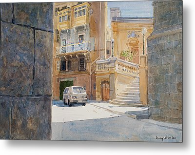 The Walls Of Birgu Metal Print by Lucy Willis