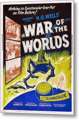 The War Of The Worlds, Poster Art, 1953 Metal Print
