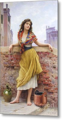 The Water Carrier Metal Print by Pg Reproductions