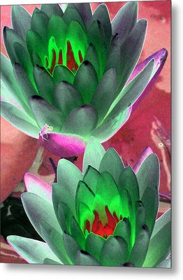Metal Print featuring the photograph The Water Lilies Collection - Photopower 1121 by Pamela Critchlow