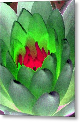 Metal Print featuring the photograph The Water Lilies Collection - Photopower 1122 by Pamela Critchlow