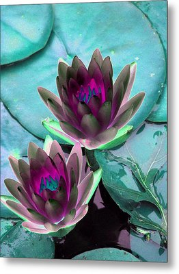 Metal Print featuring the photograph The Water Lilies Collection - Photopower 1124 by Pamela Critchlow