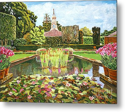 The Water Lily Pond Metal Print by David Lloyd Glover