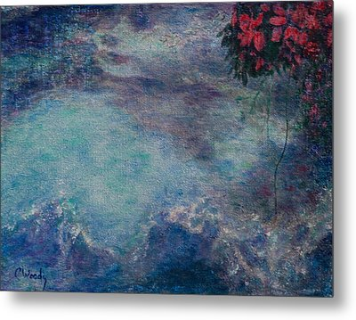 Metal Print featuring the mixed media The Water Spirit Reveals Herself by Carla Woody