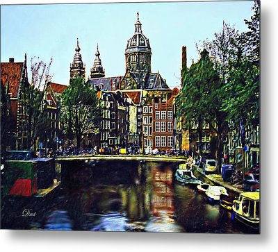 The Water Way Amsterdam Metal Print by Dmt
