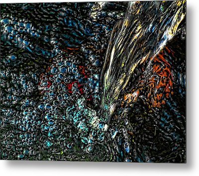 Metal Print featuring the digital art The Waterfall Of Enlightenment by Robert Rhoads