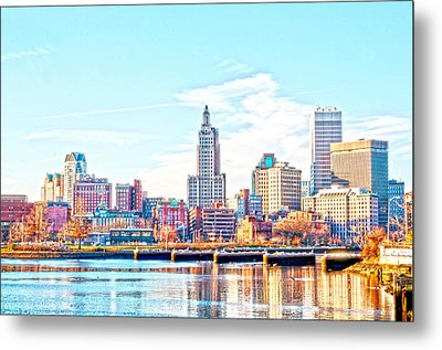 The Waterfront Metal Print by Jerri Moon Cantone