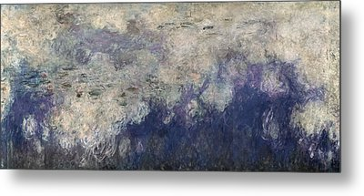 The Waterlilies - The Clouds Central Section 1915-26 Oil On Canvas See Also 64184 & 64186 Metal Print by Claude Monet