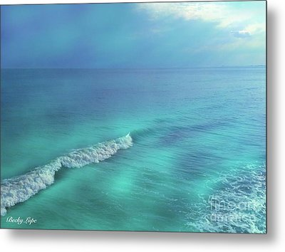 The Wave Metal Print by Becky Lupe