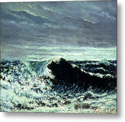 The Wave Metal Print by Gustave Courbet