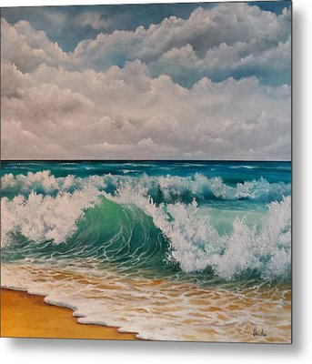 The Wave Metal Print by Katia Aho