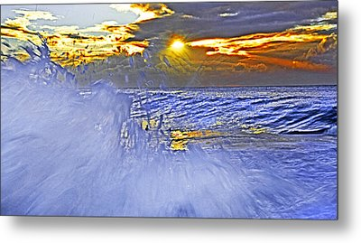 The Wave Which Got Me Metal Print by Miroslava Jurcik