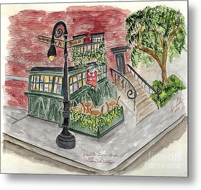 The Waverly Inn And Garden Metal Print