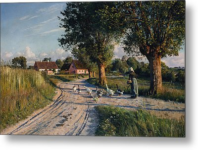 The Way Home Metal Print by Peder Monsted
