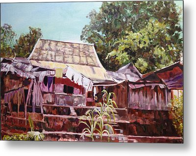Metal Print featuring the painting The Way It Was by Belinda Low