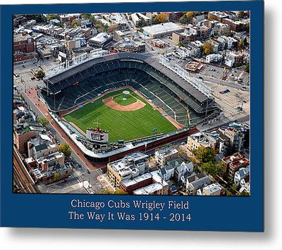 The Way It Was Chicago Cubs Wrigley Field 01 Metal Print