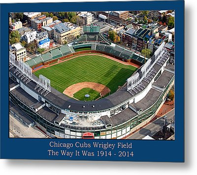 The Way It Was Chicago Cubs Wrigley Field 02 Metal Print