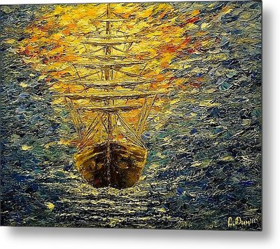 The Way Of Light Metal Print by Svetla Dimitrova