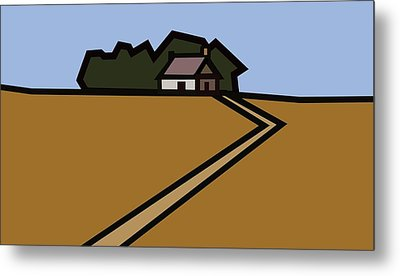 The Way To Sarah's House Metal Print by Kenneth North