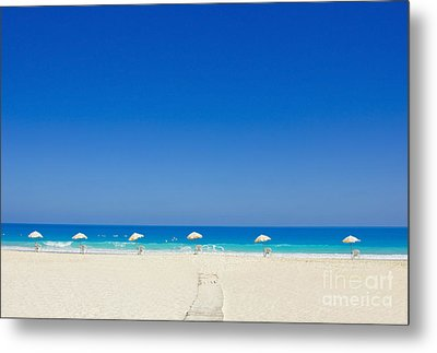 The Way To The Beach Metal Print by Mohamed Elkhamisy