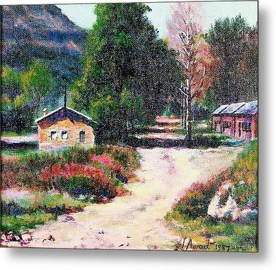 Metal Print featuring the painting The Path To The River by Laila Awad Jamaleldin