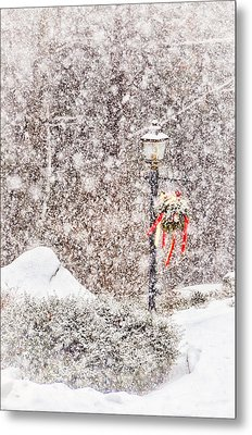 The Weather Outside Is Frightful Metal Print by Tricia Marchlik