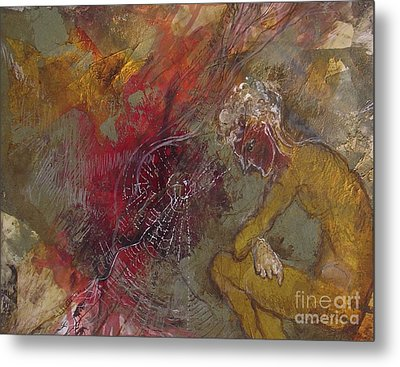Metal Print featuring the mixed media The Web's Of Mind by Delona Seserman