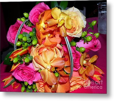 The Wedding Flowers Metal Print by Kathy  White