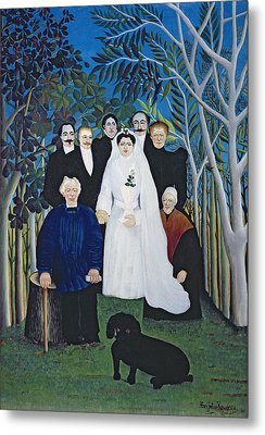 The Wedding Party, C.1905 Oil On Canvas Metal Print by Henri J.F. Rousseau