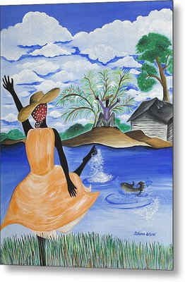 The Welcome River Metal Print by Patricia Sabree