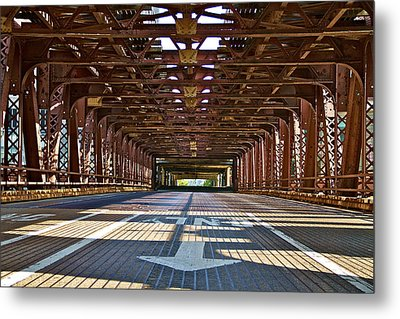 The Wells Street Bridge Metal Print