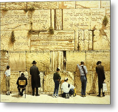 The Western Wall  Jerusalem Metal Print by Graham Braddock