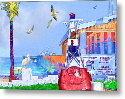 The Wharf Metal Print by Gerry Robins