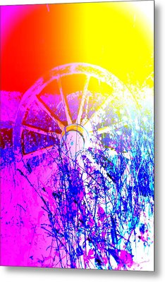 I Have A Wheel Of Colors But It's Standing Still  Metal Print by Hilde Widerberg