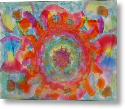 Metal Print featuring the painting The Wheel by Thomasina Durkay