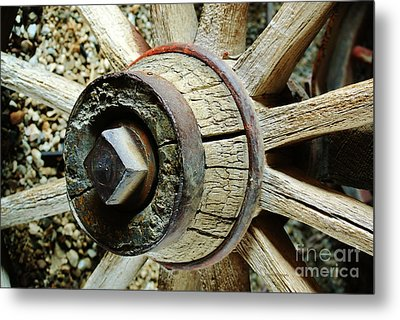 The Wheels Don't Go 'round  Metal Print