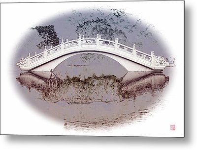 The White Bridge Metal Print by Roger Smith