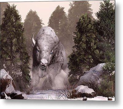 The White Buffalo Metal Print by Daniel Eskridge