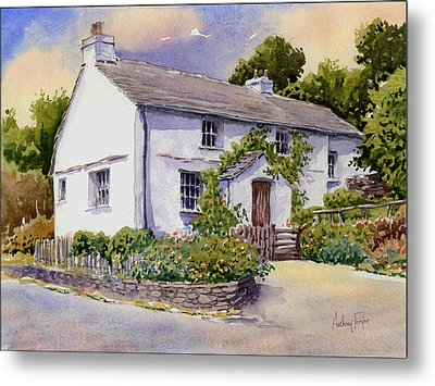 The White Cottage Metal Print by Anthony Forster