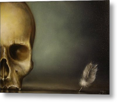 The White Feather Metal Print by Simone Galimberti