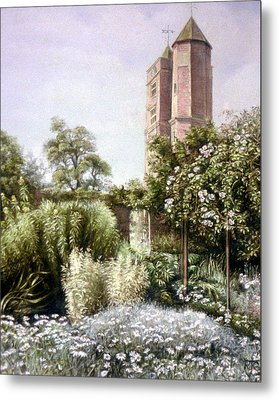 Metal Print featuring the painting The White Garden by Rosemary Colyer