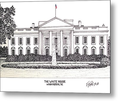 The White House Metal Print by Frederic Kohli