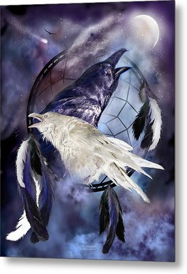 The White Raven Metal Print