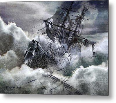 The White Wave Metal Print by Stefano Popovski