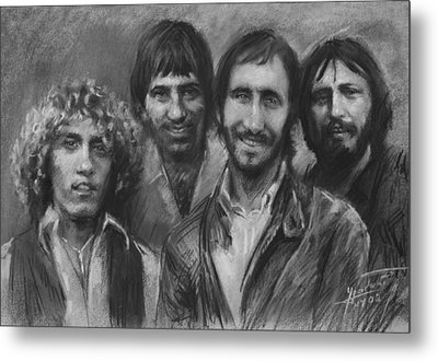 The Who Metal Print by Viola El